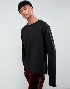Mennace - T-shirt double épaisseur avec détail piercing - Noir