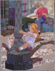Waiting For The Parade Art Quilt by Ruth B. McDowell...so talented!