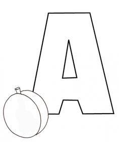coloriage Colorie le A de l'alphabet comme ABRICOT                                                                                                                                                                                 Plus