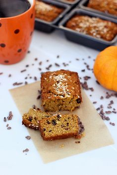 Grain-free Coconut Pumpkin Mini-Loaves with Cocoa Nibs - Gluten-free and Dairy-free, Paleo