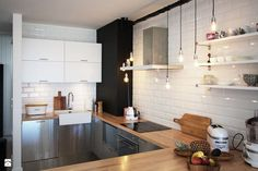 Apartament skandynawski - zdjęcie od Soma Architekci - Kuchnia - Styl Skandynawski - Soma Architekci
