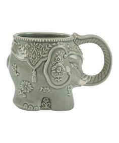 Love this Gray Elephant Stoneware Mug on #zulily! #zulilyfinds