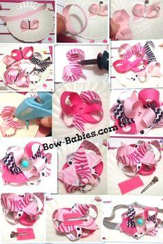 Layered Ribbon Hair Bow Instructions - DIY No Sew Bows! – Bow-Babies.com