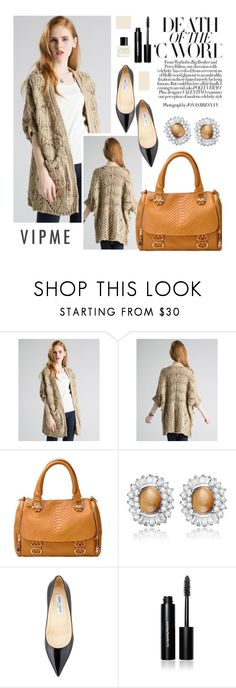"""""""Vipme 3/1"""" by merima-kopic ❤ liked on Polyvore featuring Jimmy Choo, Bobbi Brown Cosmetics, Marc Jacobs, women's clothing, women, female, woman, misses, juniors and vipme"""