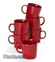 Punaiset Teema -mukit / Red Teema cups