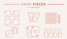In this pack you'll find several game pieces illustrated in a minimalist fashion. The ojects is this pack are: puzzle pieces, domino pieces, dices, poker cards Powerpoint Free, Creative Powerpoint, Game Pieces, Puzzle Pieces, Electronic Media, Shirt Maker, Layout Template, Create A Logo