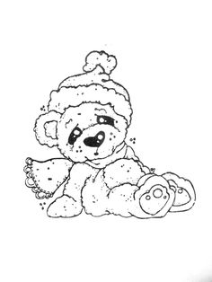 Little Christmas 2012 - Cozy Christmas Bear Colouring Pics, Coloring Sheets, Coloring Books, Digital Stamps Christmas, Holiday Fonts, Magnolia Colors, Christmas Colors, Cozy Christmas, Outline Drawings