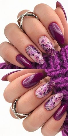 Diy Nail Designs, Simple Nail Designs, Acrylic Nail Designs, Long Round Nails, Round Shaped Nails, Best Acrylic Nails, Manicure Ideas, Stylish Nails, Purple Nails