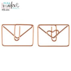 Rose Gold Envelope Paper Clips Gold Envelopes, Happy Mail, Scrapbook Paper Crafts, Sticky Notes, Paper Clip, Hobby Lobby, Washi Tape, Embellishments, Stationery