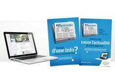 Conception et réalisation d'une campagne de promotion du site de la Communauté de Melun Val de Seine