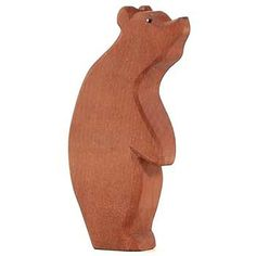 Bear Large Standing. Hand shaped wooden figurine by Ostheimer