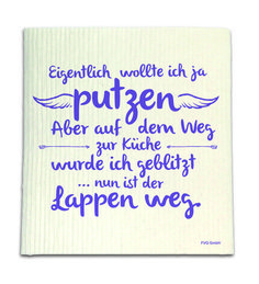 Spüllappen – Lappen weg Since the washing and cleaning makes suddenly fun again! Good To Know, Feel Good, Funny Facts, Some Words, Happy Thoughts, Funny Shirts, Letter Board, Hand Lettering, Texts