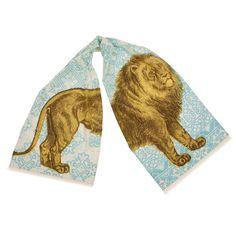 Lion Scarf. Hand silk-screened. Design by thomaspaul.