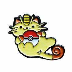 Image of Pre-order Pokémon 20th Anniversary Meowth x Neko Atsume Pin