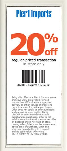 20 off at bloomingdales or online via checkout promo friends12 pier 1 imports coupon pier 1 imports promo code from the coupons app off the tab at pier 1 imports january fandeluxe Image collections