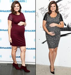 Pregnant Tiffani Thiessen modeled two ladylike dresses on Feb. 24, while promoting her new Cooking Channel show, Dinner at Tiffani's.