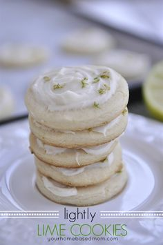Lightly Lime Cookies - These sound awesome, for all year round or just make them at the holidays & the lime on the cookies will remind you of spring & summer, when it is snowy out.