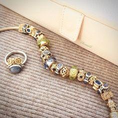 Ideas Jewerly Bracelets Gold Pandora Charms For 2019 Pandora Earrings, Pandora Bracelets, Pandora Jewelry, Pandora Charms, Jewelry Bracelets, Gold Jewelry, Silver Charms, Silver Necklaces, Pandora Gold