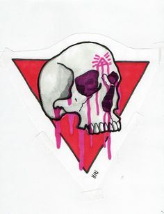 Skull, tattoo, projekt, Black, Red, pink