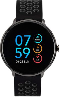 (Sponsored Link) ITouch Sport Black & Orange Silicone Strap Touchscreen Smart Watch NEW High End Watches, Big Watches, Modern Watches, Luxury Watches, Cool Watches, Watches For Men, Casual Watches, White Watches, Android Watch