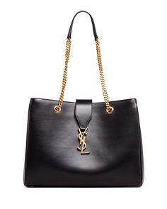 Cassandre Chain-Strap Shopper Bag, Black by Saint Laurent at Bergdorf Goodman. $2590