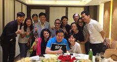 郑则仕庆65岁生日 妻女和陈炜黄光亮贺寿