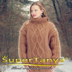 SuperTanya brown stylish outfit mohair sweater 100% by supertanya