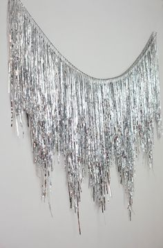 Luck Handmade Party Goods by LuckPartyGoods Streamer Backdrop, Glitter Backdrop, Party Streamers, Coachella Party Decorations, Rainbow Party Decorations, Silver Party Decorations, Rainbow Parties, Circle Garland, Tinsel Garland