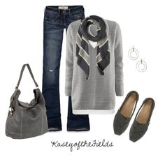 """Slate"" by kaseyofthefields ❤ liked on Polyvore featuring Hollister Co., TOMS, Tylie Malibu, People Tree, H&M and sOUP"