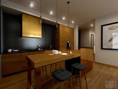 Kitchen Mood Words, Conference Room, Interior, Kitchen, Table, Furniture, Home Decor, Cooking, Decoration Home