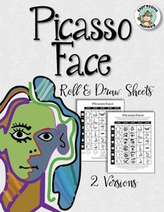 This is by far my most popular Roll & Draw activity!Teachers love using this activity as a follow-up to their introduction to Picasso as a way try making an abstract face. Students are fascinated by all the different combinations of faces that are possible.Pablo Picasso (1881-1973) is widely known for co-founding the Cubist movement.