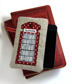 There's something nostalgic about this phone cover design... Could it be the snowflakes? Love it.   By Wendy at Modernandvintage, Etsy.