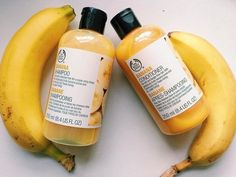 A beauty classic returns. This shampoo gently cleanses hair, leaving it beautifully shiny. It contains real banana puree and smells good enough to eat.