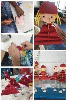 Le petit chaperon rouge…à travers différents albums – Le partage, c'est classe…maternelle! Fairy Tale Activities, Preschool Activities, Art For Kids, Crafts For Kids, Puppet Crafts, Wolf, Steampunk Fashion, Gothic Fashion, Gothic Girls
