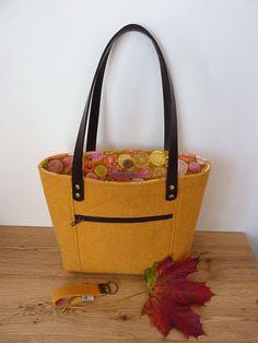 50e62b627c28 Yellow Harris Tweed Tote Bag