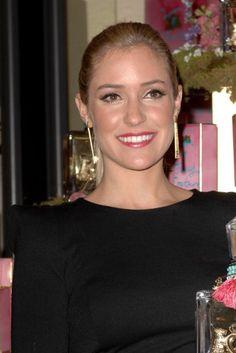 Kristin Cavallaris long, ponytail hairstyle