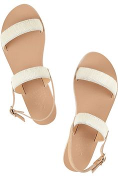 5d25a7664 ancient greek sandals · Handmade Heel measures approximately 10mm  0.5  inches White calf hair