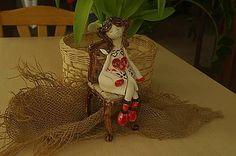 Socha - dievčatko so srdcom na stoličke - 7788675_