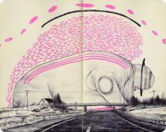 Travel Sketchbook by Pat Perry Voyage Sketchbook, Travel Sketchbook, Sketchbook Drawings, Art Drawings, Sketches, Pat Perry, Moleskine, Kunstjournal Inspiration, Sketchbook Inspiration