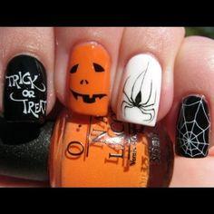 Halloween Nail Art Halloween Nails Amber Norell my-style Nail Art Designs, Fingernail Designs, Nails Design, Design Design, Design Ideas, Cute Halloween Nails, Halloween Nail Designs, Spooky Halloween, Costume Halloween