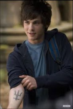 Percy Jackson....cool thing is, I have three blue veins in the figure of a tritant going up my wrist o.o