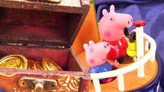 Детское видео! Герои мультфильмов про Свинку Пеппу отправляются за сокро...