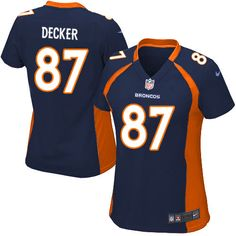 70979fad094 All Size Free Shipping Limited Women s Nike Denver Broncos  87 Eric Decker  Alternate Dark Blue
