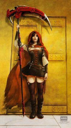 Ruby Rose - After J.W. Godward [fantasio] : RWBY