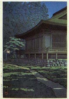 Sanzenin Temple, Kyoto  by Kawase Hasui, 1949  (published by Watanabe Shozaburo)