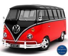 Maya Volkswagen Type 1 Samba - 3D Model