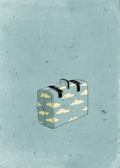 Dreaming of calm blue waters...suitcase in hand...Illustrator Alessandro Gottardo {Part 2}