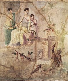 Roman fresco painting. The wearing of the image--cracks, fades, scuffs--give us a way to make time tactile. That is what I'm fascinated with.