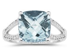 Cushion cut aquamarine rings - history of barnard castle