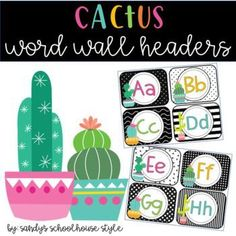 This Cactus Word Wall Decor is a perfect addition to a cactus themed classroom! Check out my other cactus themed products on TPT!